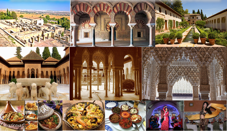 morocco spain collage