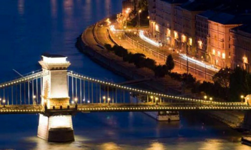 Budapest night bridge